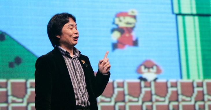 Miyamoto discutindoSuper Mario Bros.na GDC em2007. Photo Credit AP 達志影像